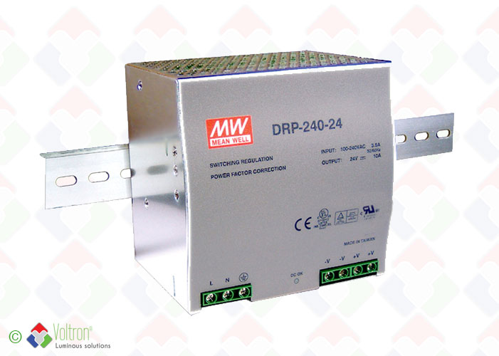 Led power supplies/MEAN-240-20-24-DIN by Voltron Lighting Group