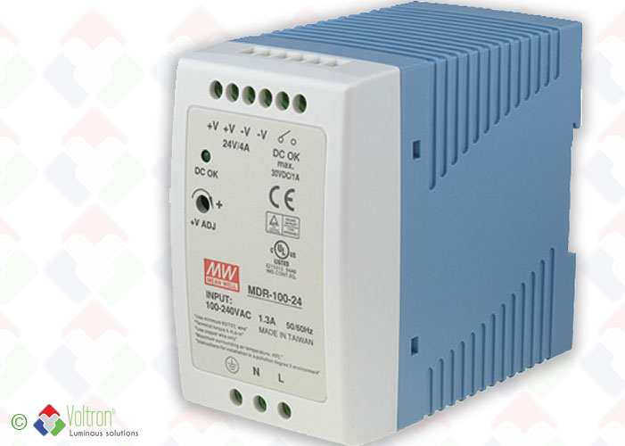 Led power supplies/MEAN-100-20-24-DIN by Voltron Lighting Group